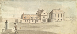 The Tap House, Gate and Chappel of Tilbury Fort in Essex from the New Barracks Septr 8th 1759.